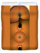 Corrugations In Orange Duvet Cover