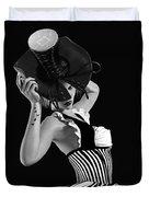 Corset Hat Lady Duvet Cover