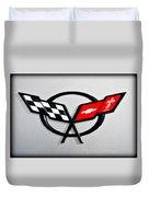 Corvette Flags II Duvet Cover