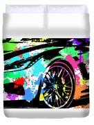 Corvette Pop Art 3 Duvet Cover