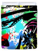Corvette Pop Art 3 Duvet Cover