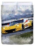 Corvette Racing Duvet Cover