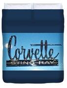 Corvette Sting Ray Duvet Cover