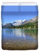 Cosley Lake Outlet - Glacier National Park Duvet Cover