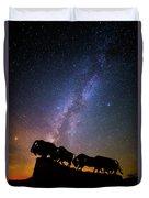 Cosmic Caprock Bison Duvet Cover