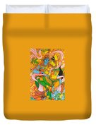 Cosmic Dance Of Krsna  Duvet Cover