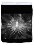 Cosmic Heart Of The Universe Bw Duvet Cover