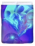 Cosmic Wave Duvet Cover