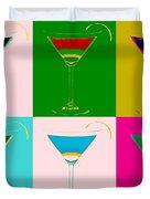 Cosmopolitan Pop Art Panels Duvet Cover