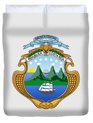 Costa Rica Coat Of Arms Duvet Cover
