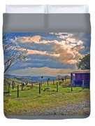 Costa Rica Cow Farm Duvet Cover