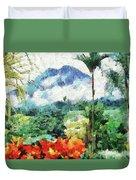 Costa Rica Paradise Duvet Cover