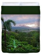 Costa Rica Volcano View Duvet Cover