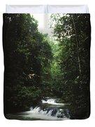 Costa Rica Waterfall In The Carocavado Duvet Cover