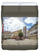 Cosy Old Mountain Village Duvet Cover