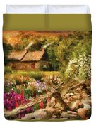 Cottage - There's No Place Like Home Duvet Cover