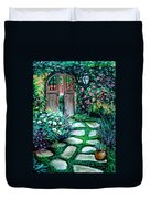 Cottage Gates Duvet Cover