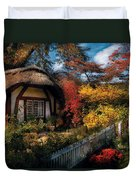 Cottage - Grannies Cottage Duvet Cover by Mike Savad