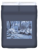 Cottage In The Woods Duvet Cover