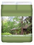 Cottage Orange Island  Louisiana  Duvet Cover