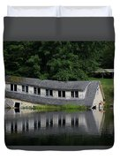 Cottage Sinking In The Rideau Canal Duvet Cover