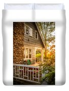 Cottage Sunset In Deep Cove, Nova Scotia Duvet Cover