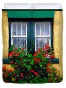 Cottage Window, Co Antrim, Ireland Duvet Cover