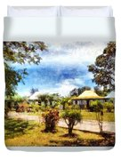 Cottages In A Landscape Duvet Cover