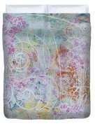 Cotton Candy And Ferris Wheels Duvet Cover