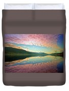 Cotton Candy Clouds At Skaha Lake Duvet Cover