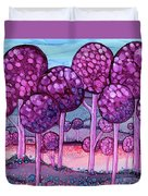 Cotton Candy Forest Duvet Cover