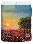 Cotton Field Sunset Duvet Cover