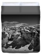 Cottonwood Creek Strange Rocks 2 Bw Duvet Cover by Roger Snyder