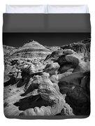 Cottonwood Creek Strange Rocks 6 Bw Duvet Cover