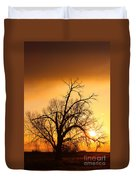 Cottonwood Sunrise - Vertical Print Duvet Cover