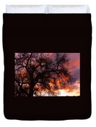 Cottonwood Sunset Silhouette Duvet Cover