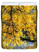 Cottonwood Tree Along The River Duvet Cover
