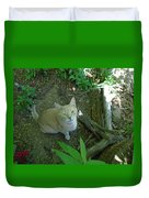 Cougar In The Woods Duvet Cover