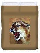 Cougar Duvet Cover by J W Baker