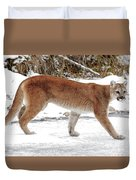 Cougar On The Prowl Duvet Cover