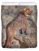 Cougar Rocks, Southwest Mountain Lion Duvet Cover