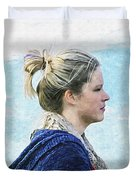 Country Angel - Paint Fx Duvet Cover