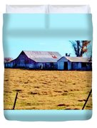 Country Barn And Shed Duvet Cover