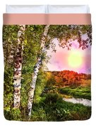 Country Birch Duvet Cover