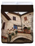 Country Charm Assisi Italy Duvet Cover