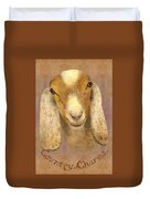 Country Charms Nubian Goat With Bright Eyes Duvet Cover