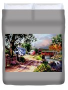 Country Covered Bridge 3 Duvet Cover