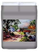 Country Covered Bridge Duvet Cover