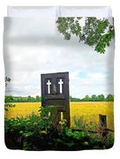 Country Crosses Duvet Cover