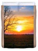 Country Easter Sunrise  Duvet Cover